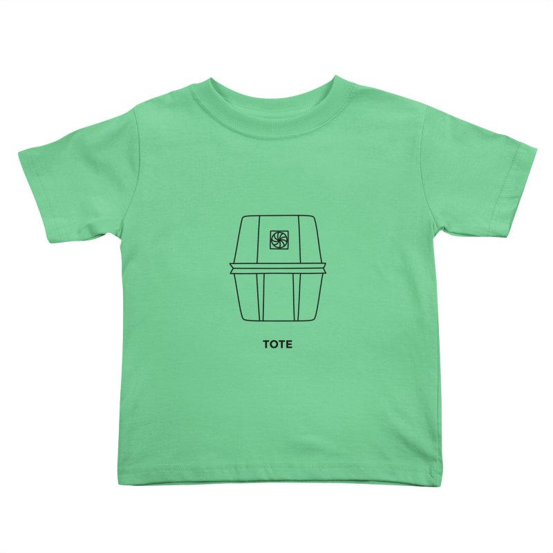 Space Bucket - Tote Kids Toddler T-Shirt by spacebuckets's Artist Shop