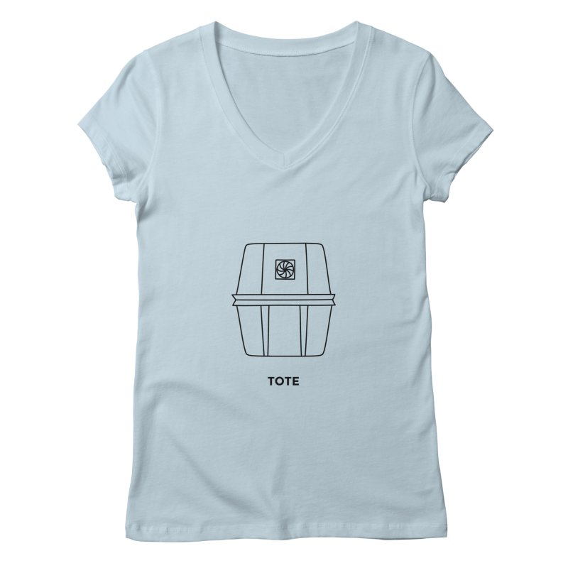 Space Bucket - Tote Women's V-Neck by spacebuckets's Artist Shop