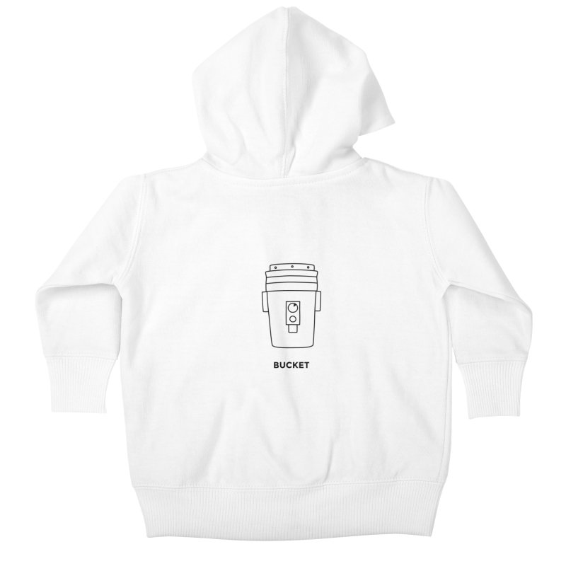 Space Bucket - 20 gal Bucket Kids Baby Zip-Up Hoody by spacebuckets's Artist Shop