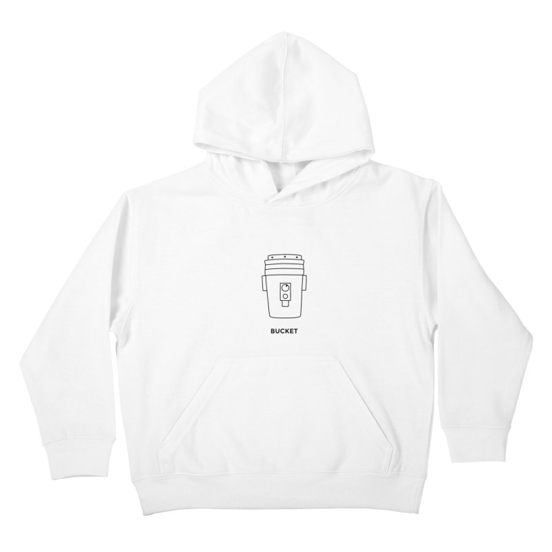 Space Bucket - 20 gal Bucket Kids Pullover Hoody by spacebuckets's Artist Shop