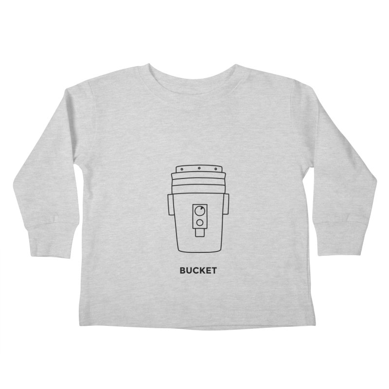 Space Bucket - 20 gal Bucket Kids Toddler Longsleeve T-Shirt by spacebuckets's Artist Shop