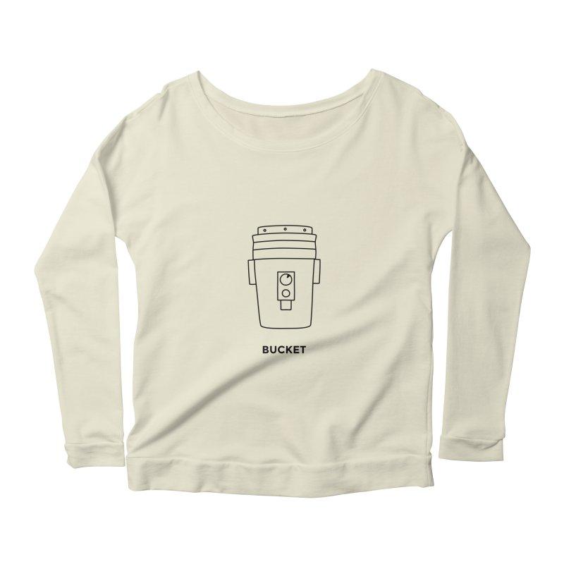 Space Bucket - 20 gal Bucket Women's Scoop Neck Longsleeve T-Shirt by spacebuckets's Artist Shop