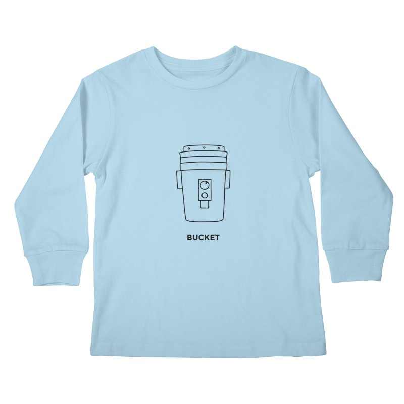 Space Bucket - 20 gal Bucket Kids Longsleeve T-Shirt by spacebuckets's Artist Shop