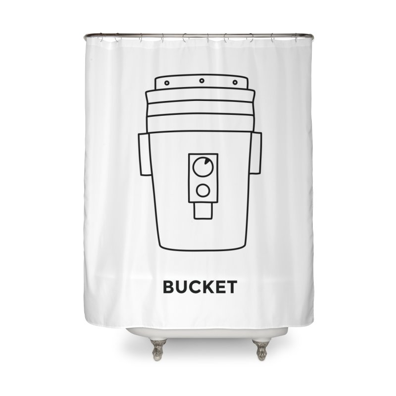 Space Bucket - 20 gal Bucket Home Shower Curtain by spacebuckets's Artist Shop