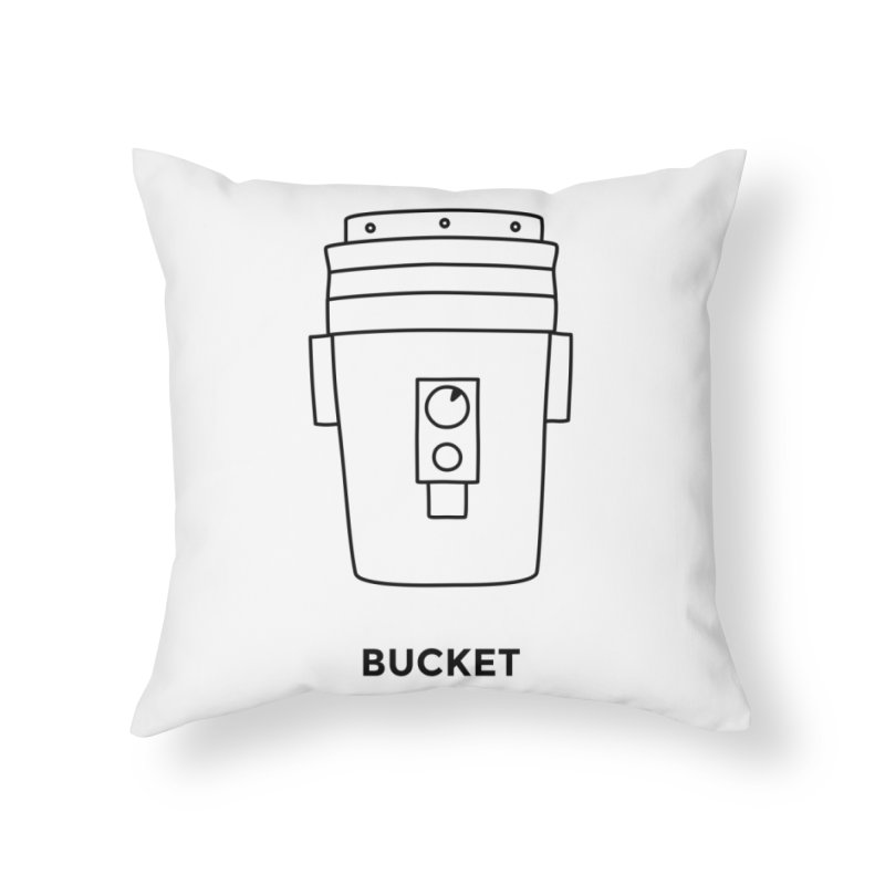 Space Bucket - 20 gal Bucket Home Throw Pillow by spacebuckets's Artist Shop
