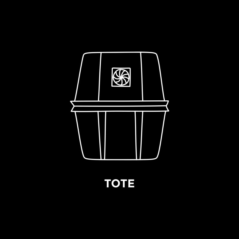Tote Space Bucket - white Men's Zip-Up Hoody by spacebuckets's Artist Shop