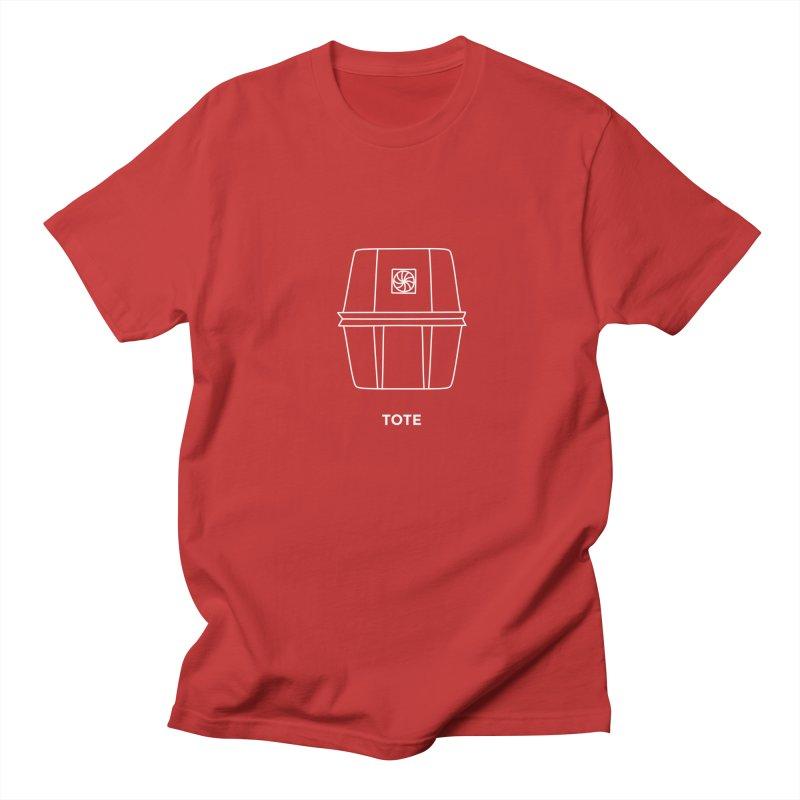 Tote Space Bucket - white Women's Regular Unisex T-Shirt by spacebuckets's Artist Shop