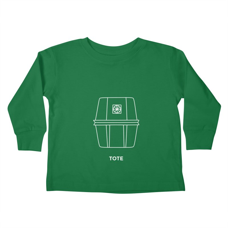 Tote Space Bucket - white Kids Toddler Longsleeve T-Shirt by spacebuckets's Artist Shop