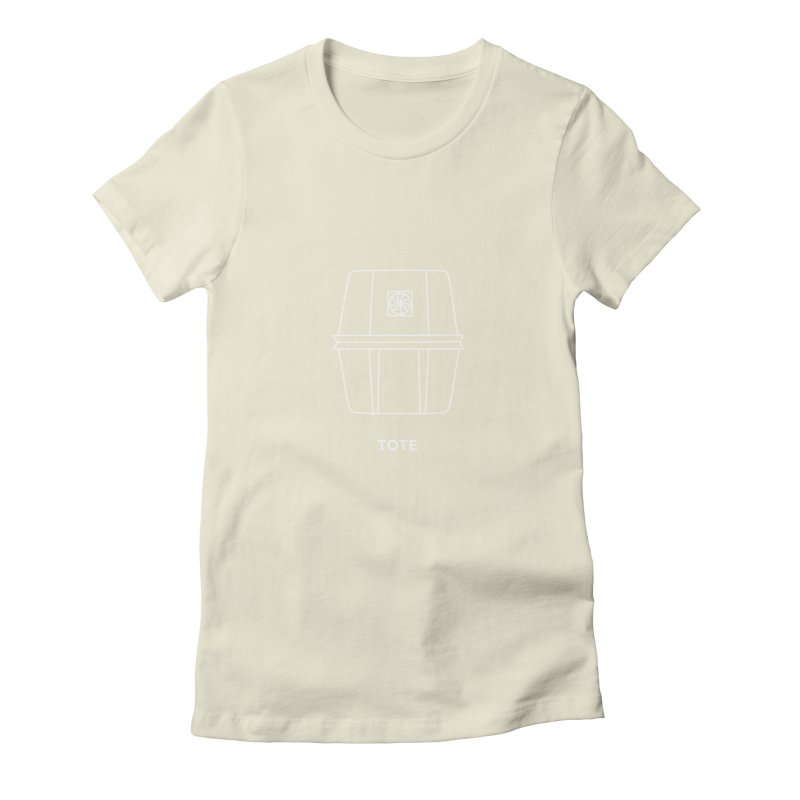 Tote Space Bucket - white Women's T-Shirt by spacebuckets's Artist Shop