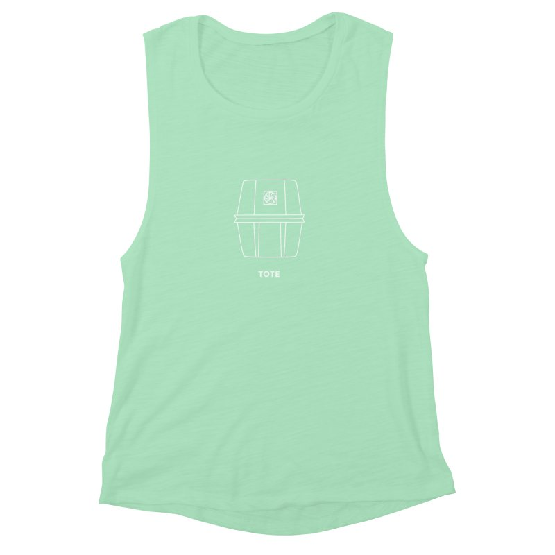 Tote Space Bucket - white Women's Muscle Tank by spacebuckets's Artist Shop