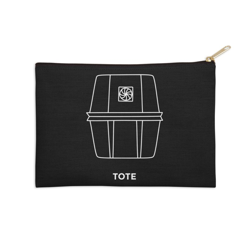 Tote Space Bucket - white Accessories Zip Pouch by spacebuckets's Artist Shop