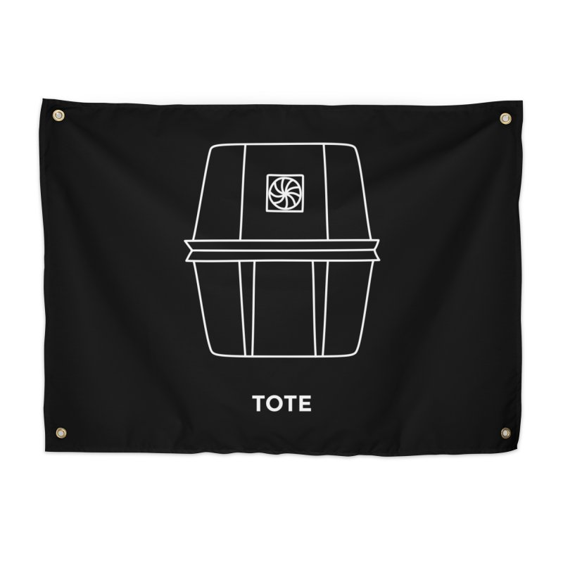 Tote Space Bucket - white Home Tapestry by spacebuckets's Artist Shop