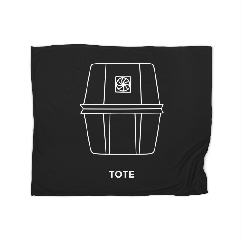 Tote Space Bucket - white Home Fleece Blanket by spacebuckets's Artist Shop