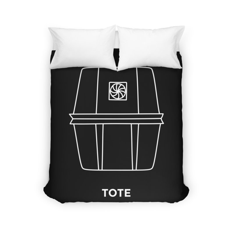 Tote Space Bucket - white Home Duvet by spacebuckets's Artist Shop