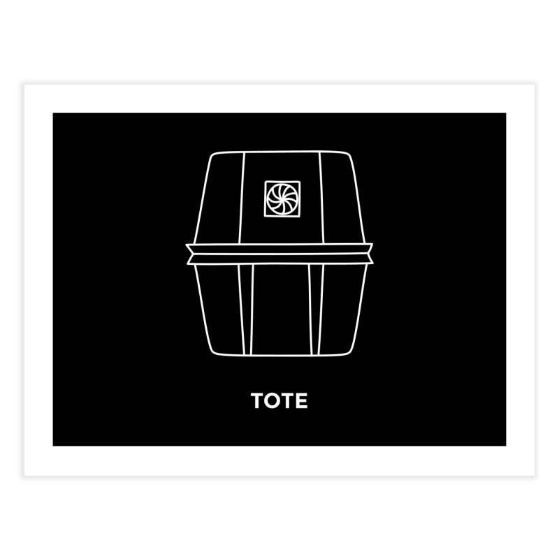 Tote Space Bucket - white   by spacebuckets's Artist Shop