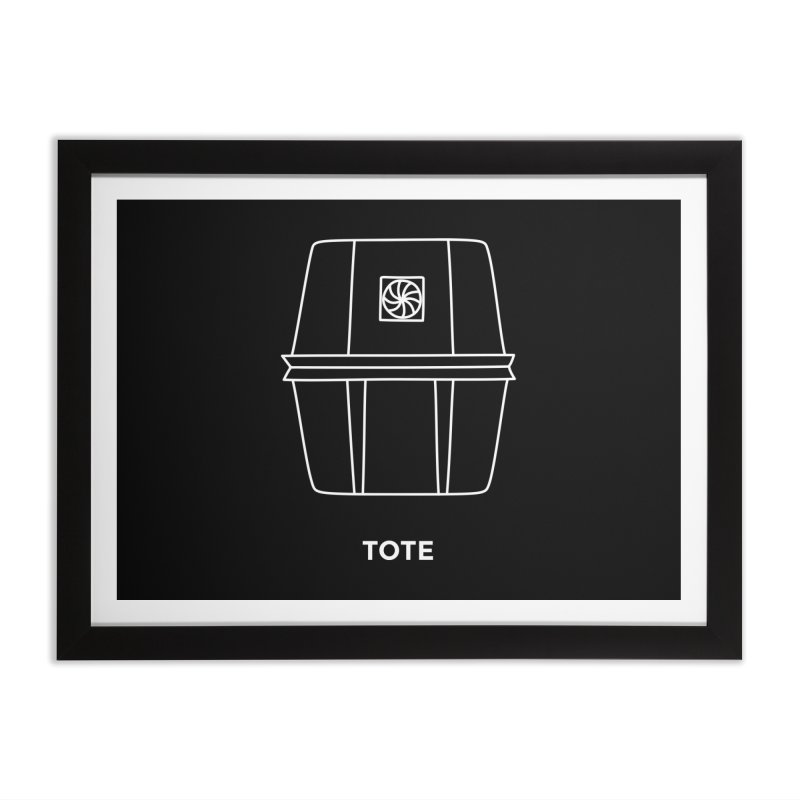 Tote Space Bucket - white Home Framed Fine Art Print by spacebuckets's Artist Shop
