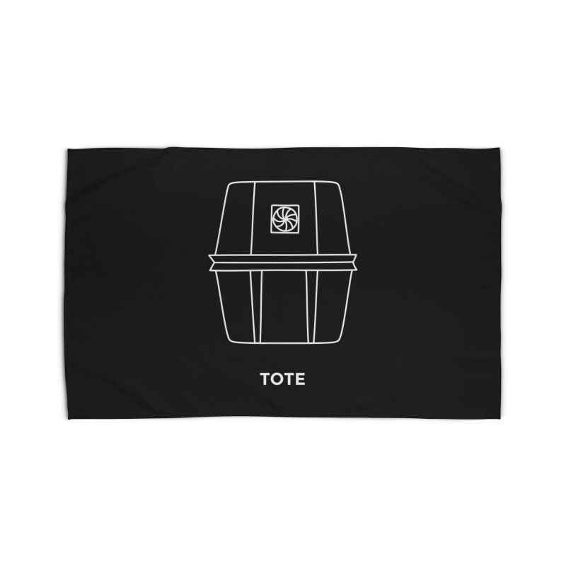 Tote Space Bucket - white Home Rug by spacebuckets's Artist Shop