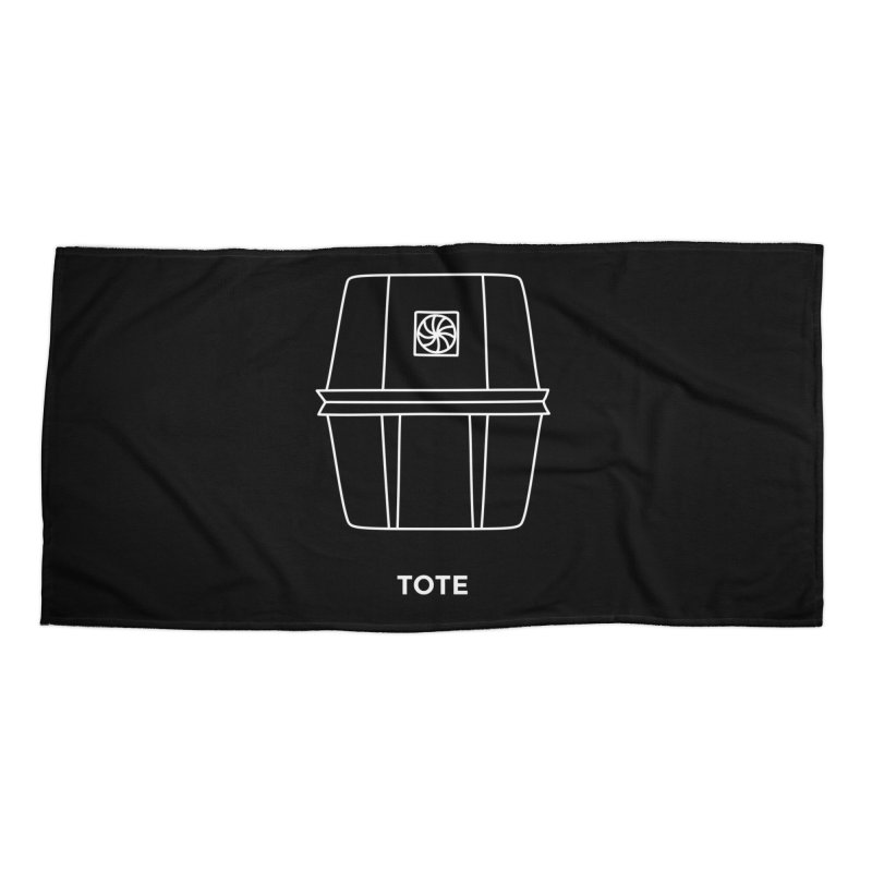 Tote Space Bucket - white Accessories Beach Towel by spacebuckets's Artist Shop