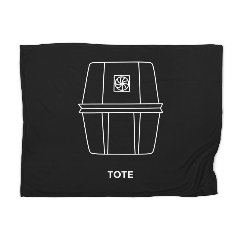 Tote Space Bucket - white Home Blanket by spacebuckets's Artist Shop