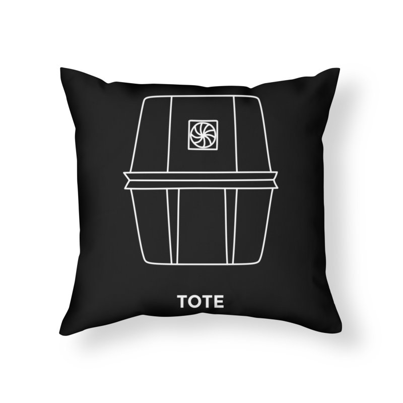 Tote Space Bucket - white Home Throw Pillow by spacebuckets's Artist Shop