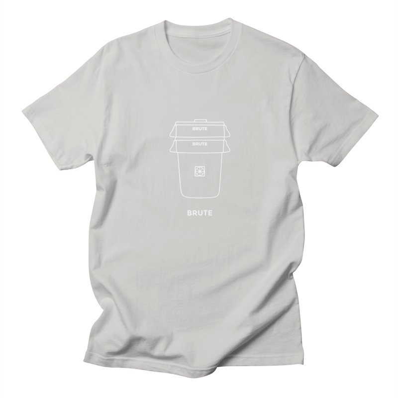 Brute Space Bucket - white Men's T-Shirt by spacebuckets's Artist Shop