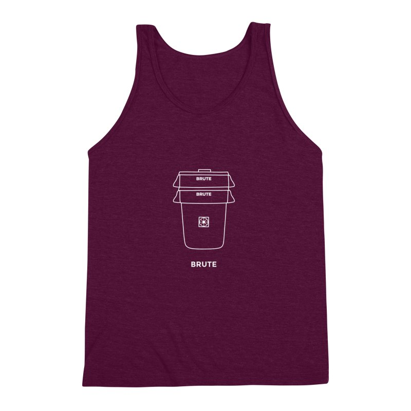 Brute Space Bucket - white Men's Triblend Tank by spacebuckets's Artist Shop