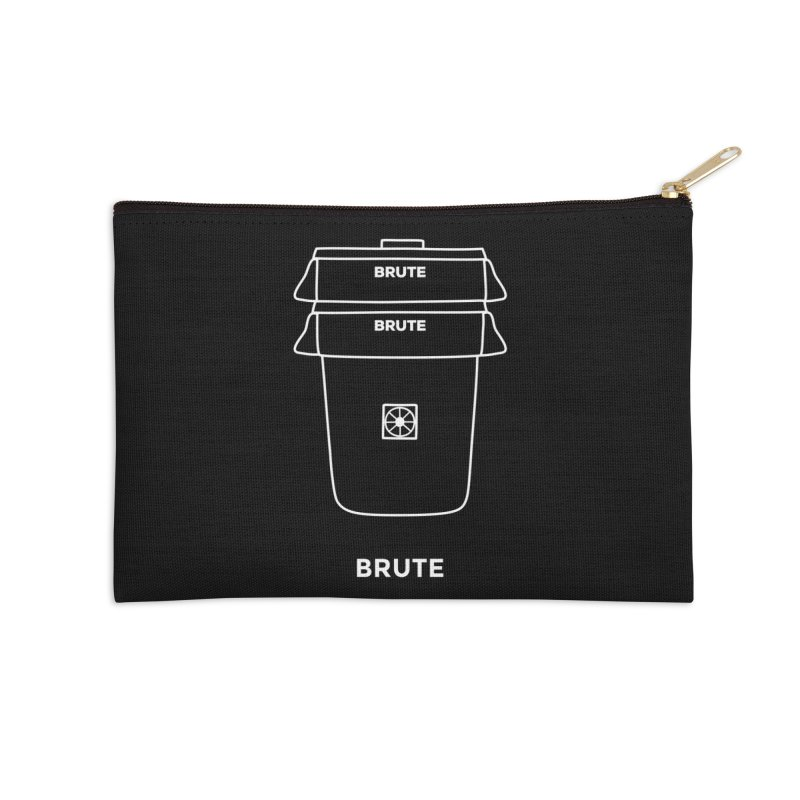 Brute Space Bucket - white Accessories Zip Pouch by spacebuckets's Artist Shop