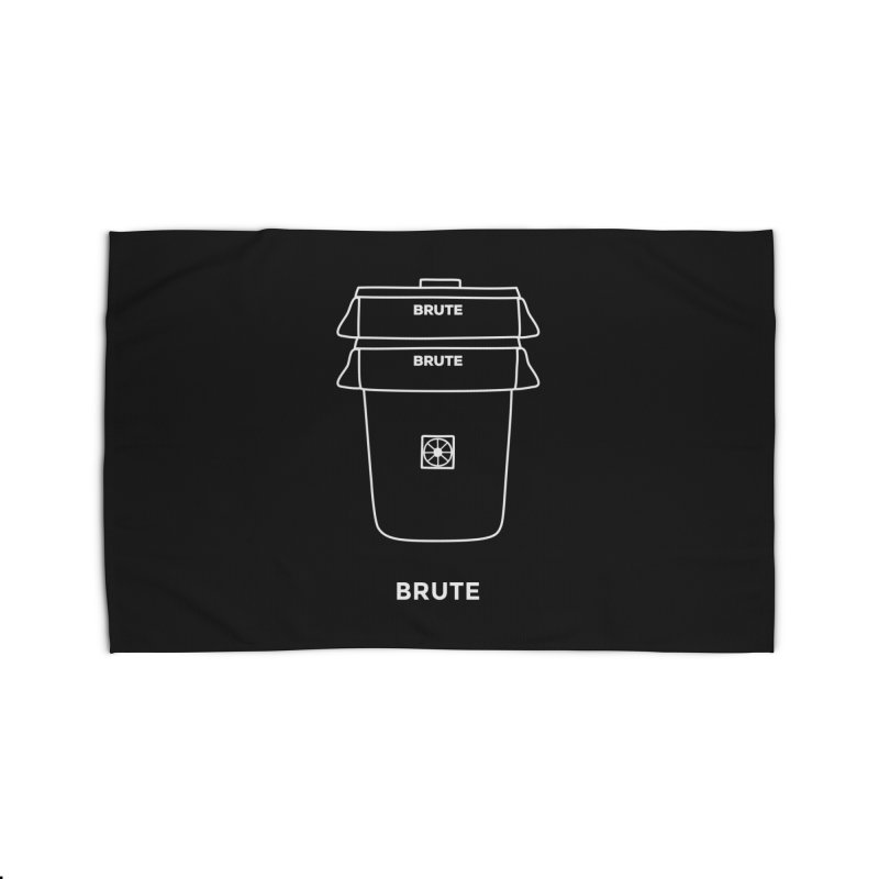 Brute Space Bucket - white Home Rug by spacebuckets's Artist Shop