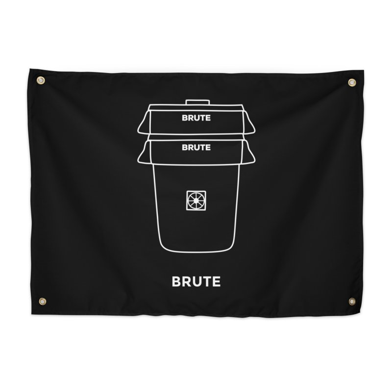 Brute Space Bucket - white Home Tapestry by spacebuckets's Artist Shop