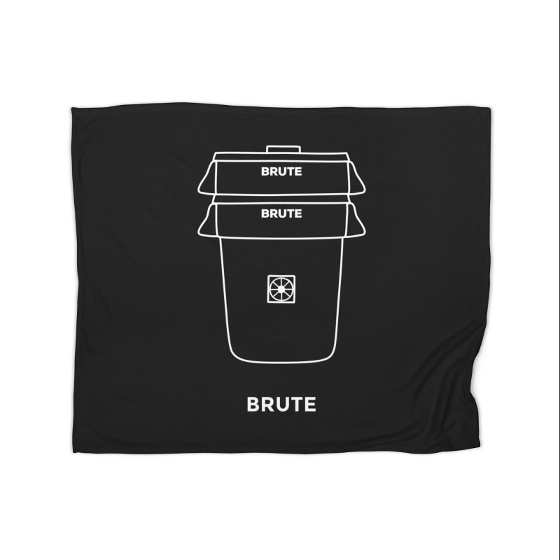 Brute Space Bucket - white Home Fleece Blanket by spacebuckets's Artist Shop