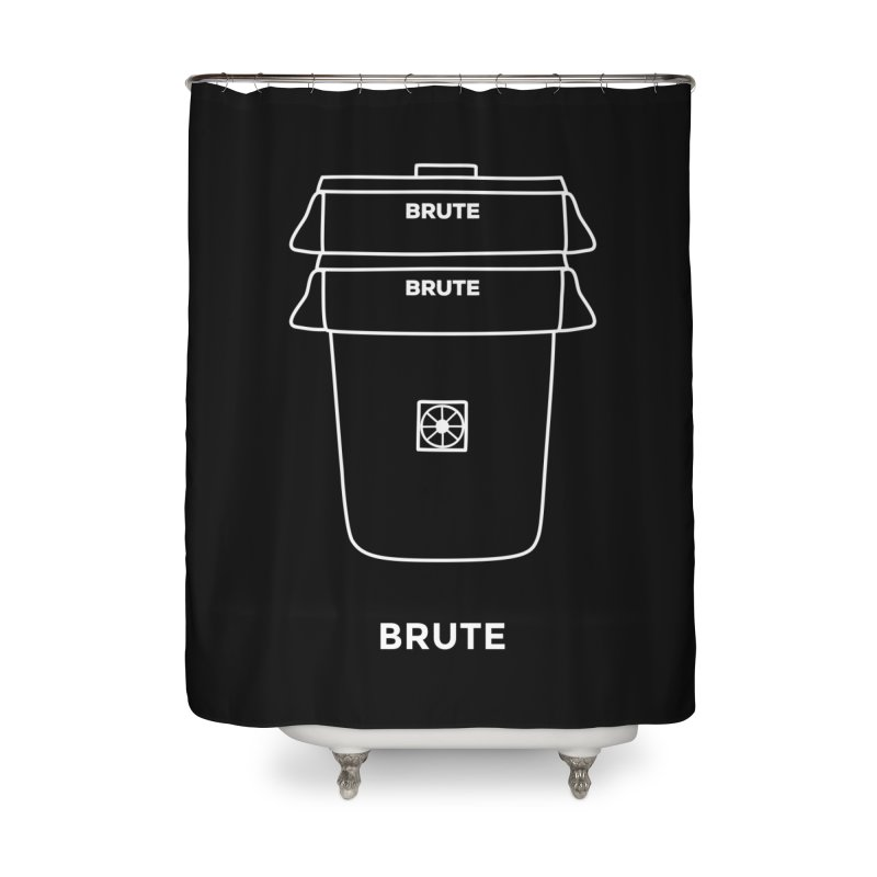 Brute Space Bucket - white Home Shower Curtain by spacebuckets's Artist Shop