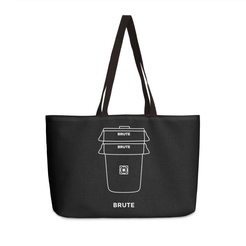Brute Space Bucket - white Accessories Weekender Bag Bag by spacebuckets's Artist Shop