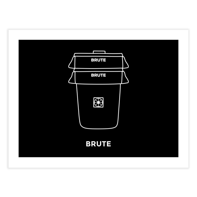 Brute Space Bucket - white   by spacebuckets's Artist Shop