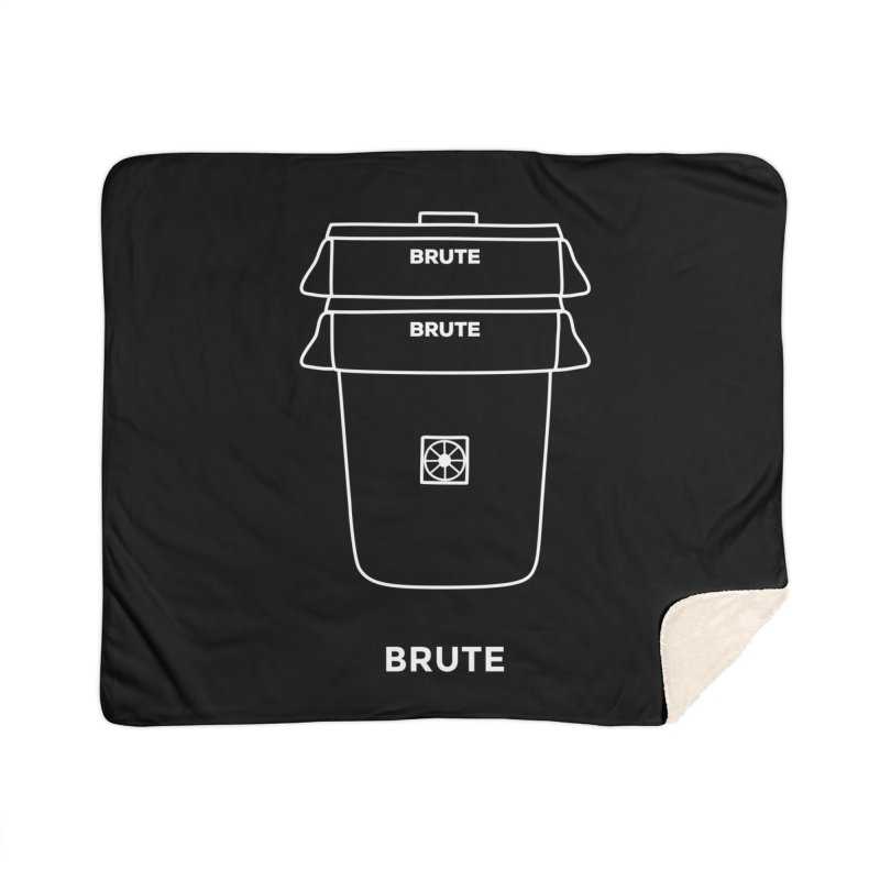 Brute Space Bucket - white Home Sherpa Blanket Blanket by spacebuckets's Artist Shop