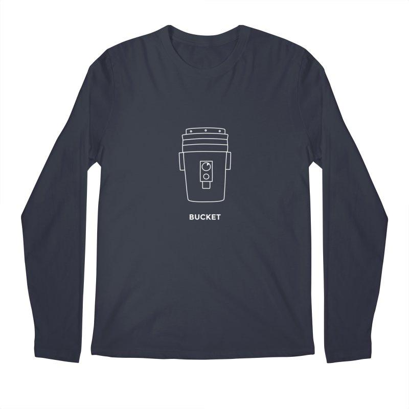 Space Bucket - 20gal Bucket white Men's Regular Longsleeve T-Shirt by spacebuckets's Artist Shop