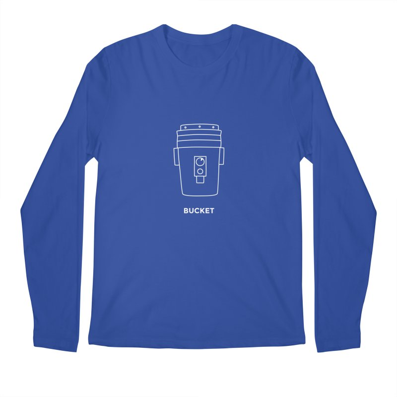 Space Bucket - 20gal Bucket white Men's Regular Longsleeve T-Shirt by spacebuckets's Artist Shop