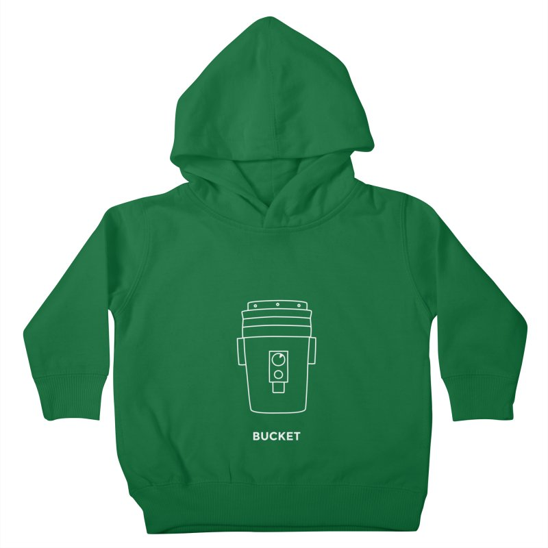Space Bucket - 20gal Bucket white Kids Toddler Pullover Hoody by spacebuckets's Artist Shop