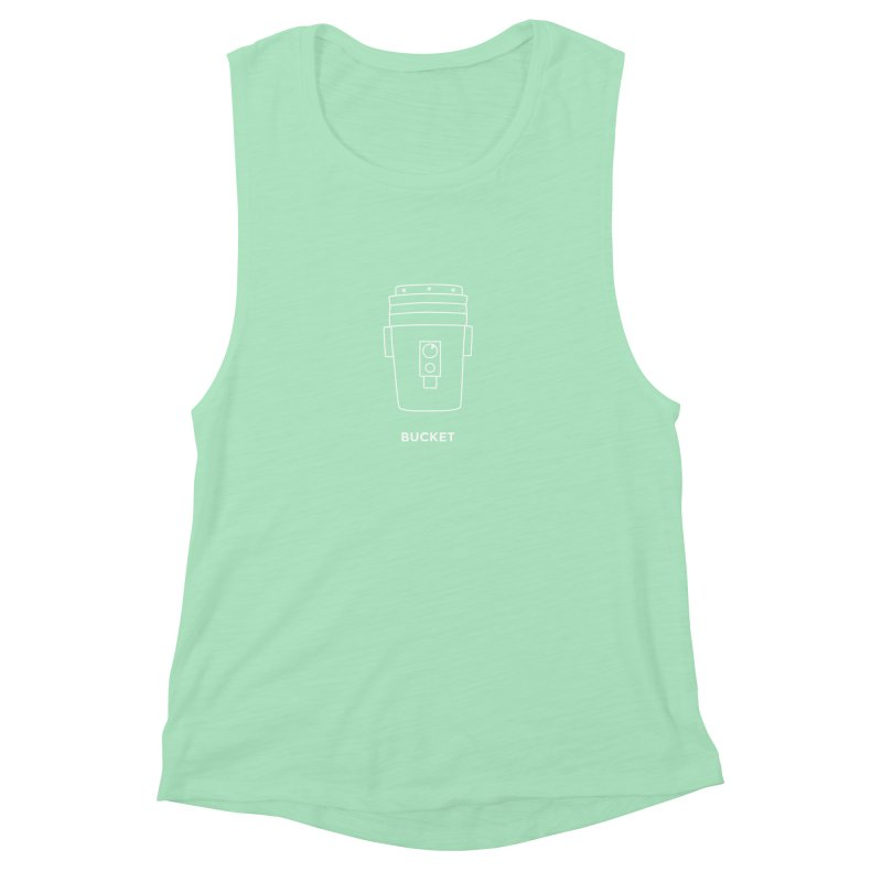 Space Bucket - 20gal Bucket white Women's Muscle Tank by spacebuckets's Artist Shop