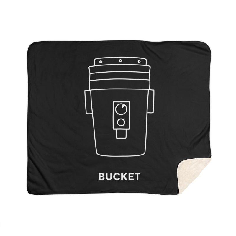 Space Bucket - 20gal Bucket white Home Sherpa Blanket Blanket by spacebuckets's Artist Shop