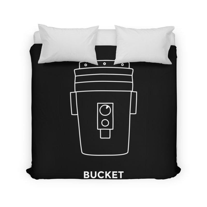 Space Bucket - 20gal Bucket white Home Duvet by spacebuckets's Artist Shop