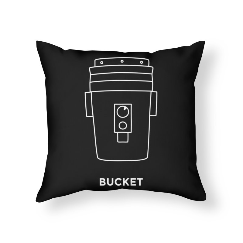 Space Bucket - 20gal Bucket white Home Throw Pillow by spacebuckets's Artist Shop