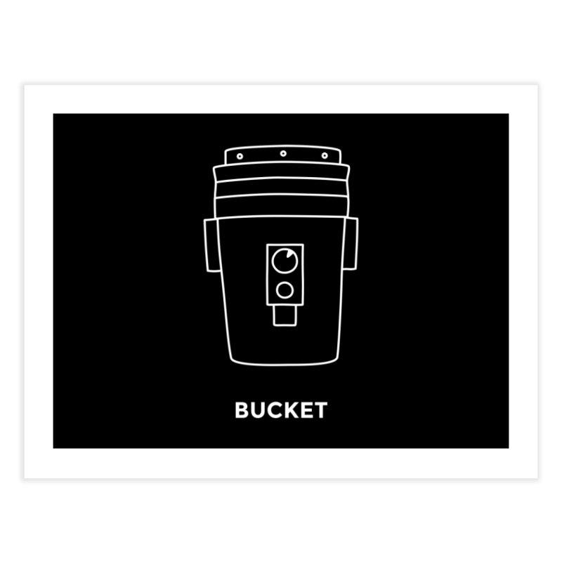 Space Bucket - 20gal Bucket white   by spacebuckets's Artist Shop