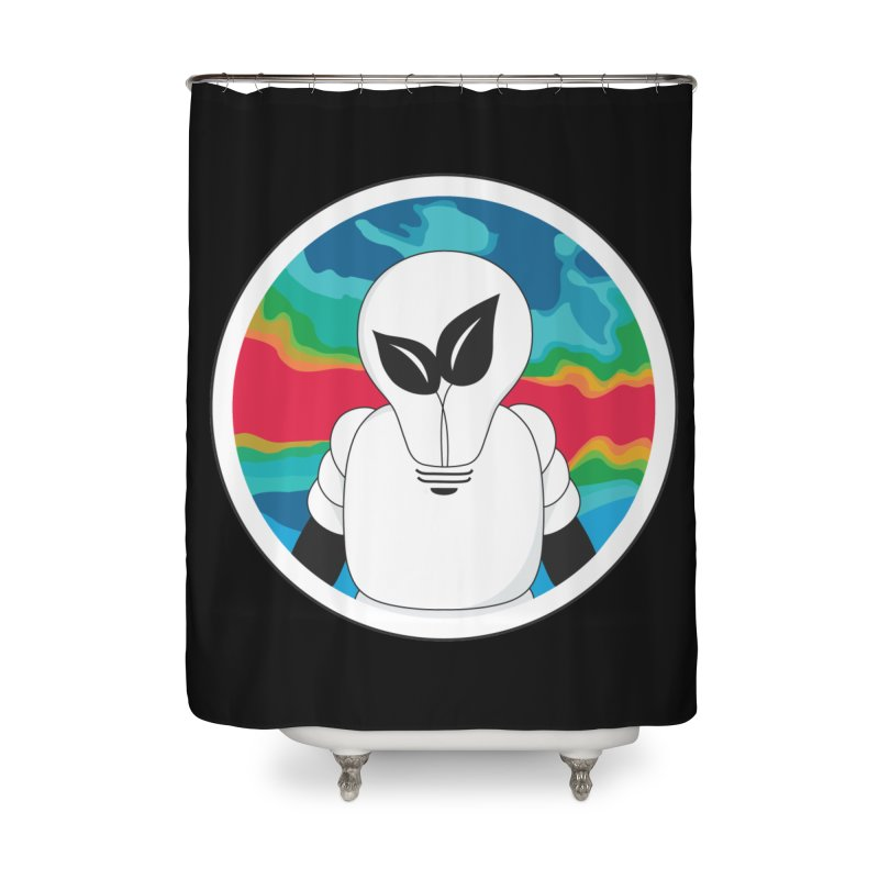 Space Buckets - Simple Logo Home Shower Curtain by spacebuckets's Artist Shop