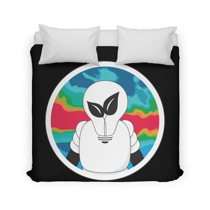 Space Buckets - Simple Logo Home Duvet by spacebuckets's Artist Shop