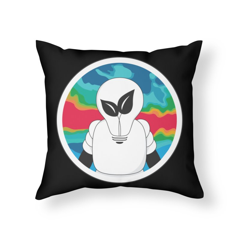 Space Buckets - Simple Logo Home Throw Pillow by spacebuckets's Artist Shop
