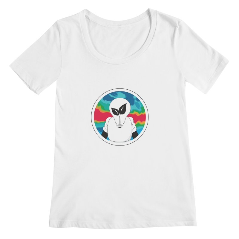 Space Buckets - Simple Logo Women's Regular Scoop Neck by spacebuckets's Artist Shop