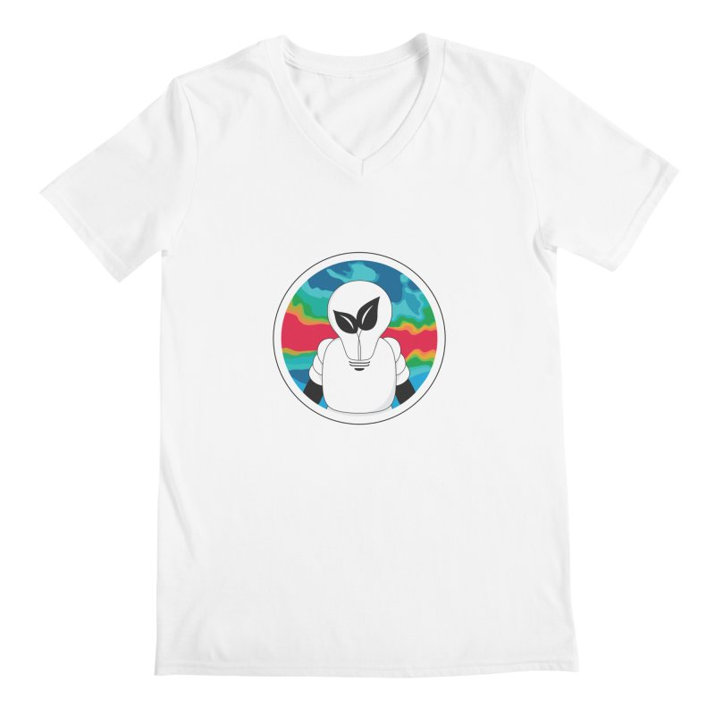 Space Buckets - Simple Logo Men's Regular V-Neck by spacebuckets's Artist Shop