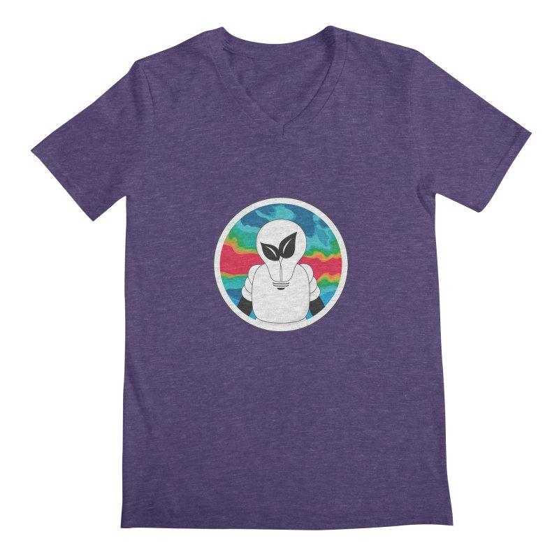 Space Buckets - Simple Logo Men's Regular V-Neck by spacebuckets's Artist Shop