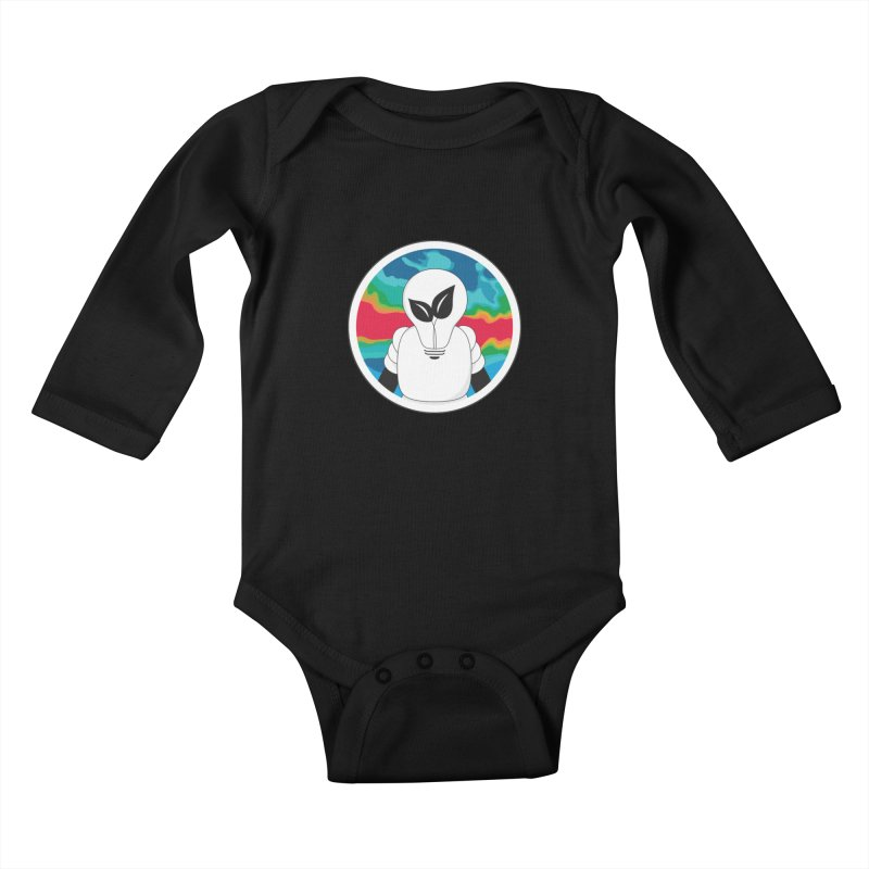 Space Buckets - Simple Logo Kids Baby Longsleeve Bodysuit by spacebuckets's Artist Shop