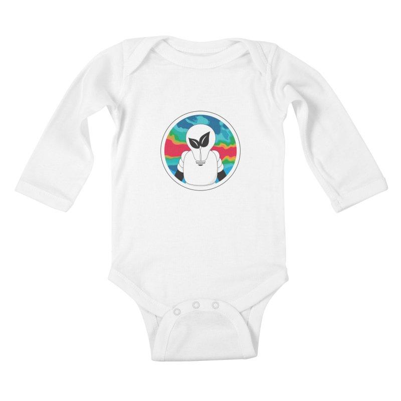 Space Buckets - Simple Logo Kids Baby Longsleeve Bodysuit by spacebuckets's Artist Shop